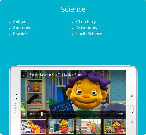 Samsung Kids Science content