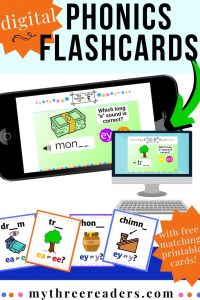 Phonics Flashcards – Digital Sound Cards & FREE Matching Printable Cards